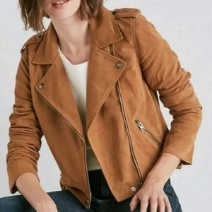 NWT Lucky Brand Suede Moto Jacket